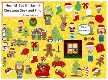 Hear it!   See it!   Say It!   Christmas Seek and Find