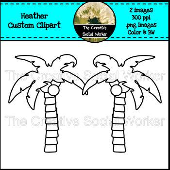 Heather Custom Clipart - Palm Trees