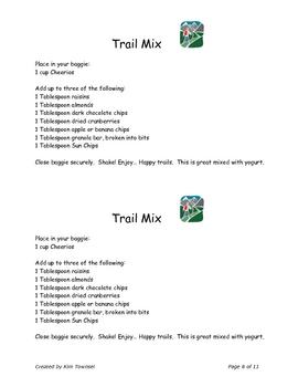 Heathy Snacks Mini Unit by Kim Townsel