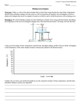 Heating Curves Inquiry Lab Activity