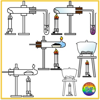 Heating Effects Clipart (Chemical Reactions)