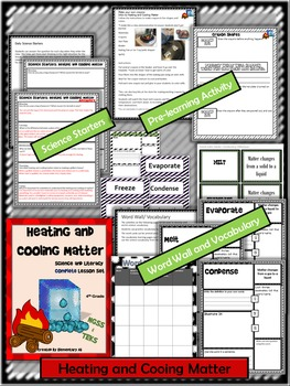 Heating and Cooling Matter: Complete Lesson Set Bundle (TEKS & NGSS)