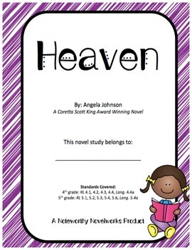 Heaven by Angela Johnson - Novel Study / Answer Key