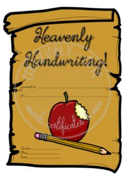Heavenly Handwriting!