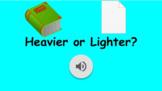 Heavier or Lighter google slides