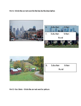 Heavily Modified Communities Test- Know your state- New Jersey (2nd grade)