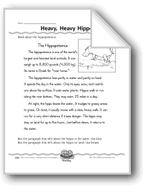 Heavy, Heavy Hippo (Facts and Comparisons)
