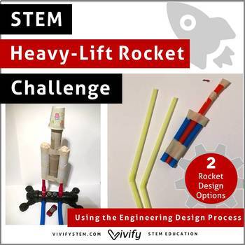 Heavy-Lift Straw or Stomp Rocket STEM Challenge (Forces & Motion, Falcon Heavy)