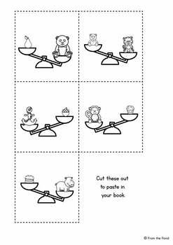 Heavy & Light Emergent Reader {Kindergarten Math - Mass}