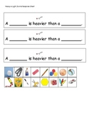 Heavy Vs. Light Pocket Chart Pics & Student Response Sheet