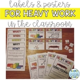 Heavy Work Visuals, Labels, and Information Posters
