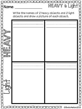 Measurement (Heavy and Light Objects)