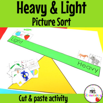 Heavy and Light Sort {Cut and Paste Craft}