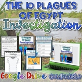 10 Deadly Plagues of Egypt Investigation {Digital AND Paper} Distance Learning