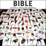 Hebrew Activity Cards - Clean / Unclean Animals