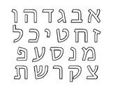 "Hebrew Alef Bet Alphabet Tracing Practice how to write ""Df"