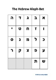 Hebrew Aleph-Bet Beginner Chart