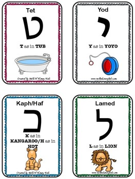 Hebrew Aleph-Bet Flashcards