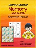 Aleph Bet/ Aleph Beis Hebrew Memory Game & Go Fish (Summer Theme)