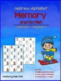 Hebrew Alphabet Memory Game (and Go Fish)- Winter Theme