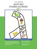 Hebrew Alphabet Puzzle Letters