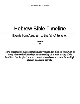 Hebrew Bible Timeline