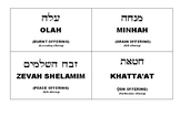 Hebrew Cards - Torah Portion: Vayikra - 5 offerings