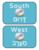 Hebrew/English Cardinal Directions Classroom Posters