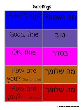 Hebrew- Greetings