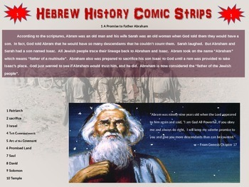 Hebrew History / Bible Comic Strip Activity: engaging foll