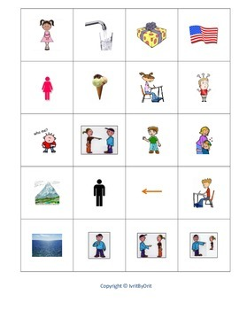 Hebrew Memory Cards game - basic vocabulary