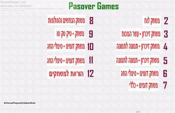 Hebrew Passover games.