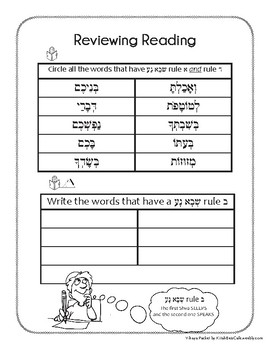 Hebrew Reading Review in Tefilla