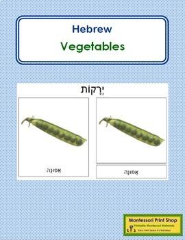 Hebrew - Vegetable Cards