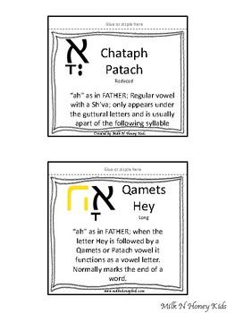 Hebrew Vowels flipbooks
