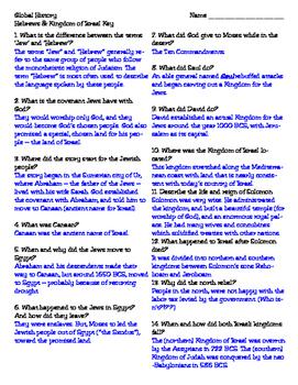 Hebrews & the Kingdom of Israel