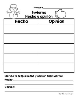 Hecho u Opinion Sort in Spanish (Fact or Opinion in Spanish Sorting Activity)
