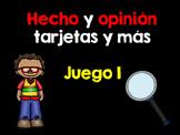 Hecho y opinión Juego 1-Fact and opinion Set 1 Spanish