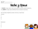 Hecho y opinion español / fact and opinion Spanish