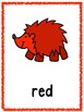 Hedge Hog Color Posters & Memory Matching Cards