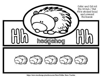 HedgeHog Hat / Crown - Freebie #9 -  #StartFreshBTS - Preschool by Narcissa