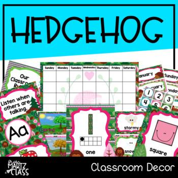 Hedgehog Classroom Decor (ENGLISH)