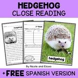 Hedgehog Close Reading Passage Activities