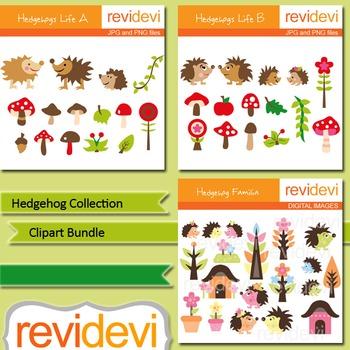 Hedgehog Collection Bundle - digital clip art