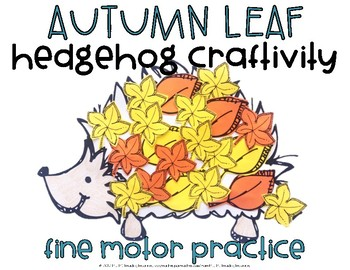 Hedgehog Craftivity Fine Motor Practice
