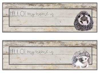 Hedgehog Farmhouse Classroom Decor Bundle