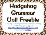 Hedgehog Grammar Unit Freebie