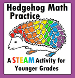 Hedgehog Hedgie's Math Addition STEAM STEM Worksheet for younger students