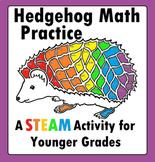 Hedgehog Hedgie's Math Addition STEAM STEM Worksheet for younger students