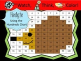Hedgehog Hundreds Chart Fun - Watch, Think, Color Game!